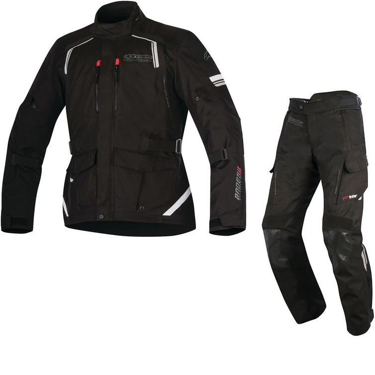 Alpinestars Andes DryStar v2 Motorcycle Jacket & Trousers Black Kit