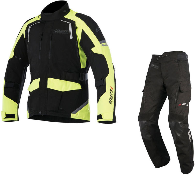 Alpinestars Andes DryStar v2 Motorcycle Jacket & Trousers Fluo Black Kit