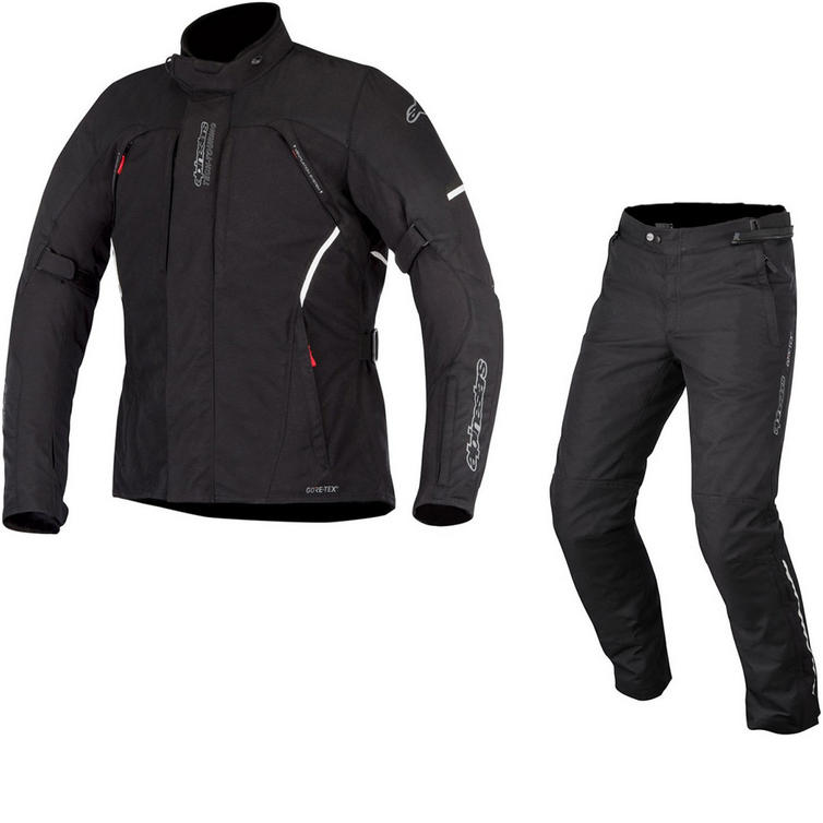 Alpinestars Ares Gore-Tex Jacket & Patron Gore-Tex Trousers Motorcycle Black Kit