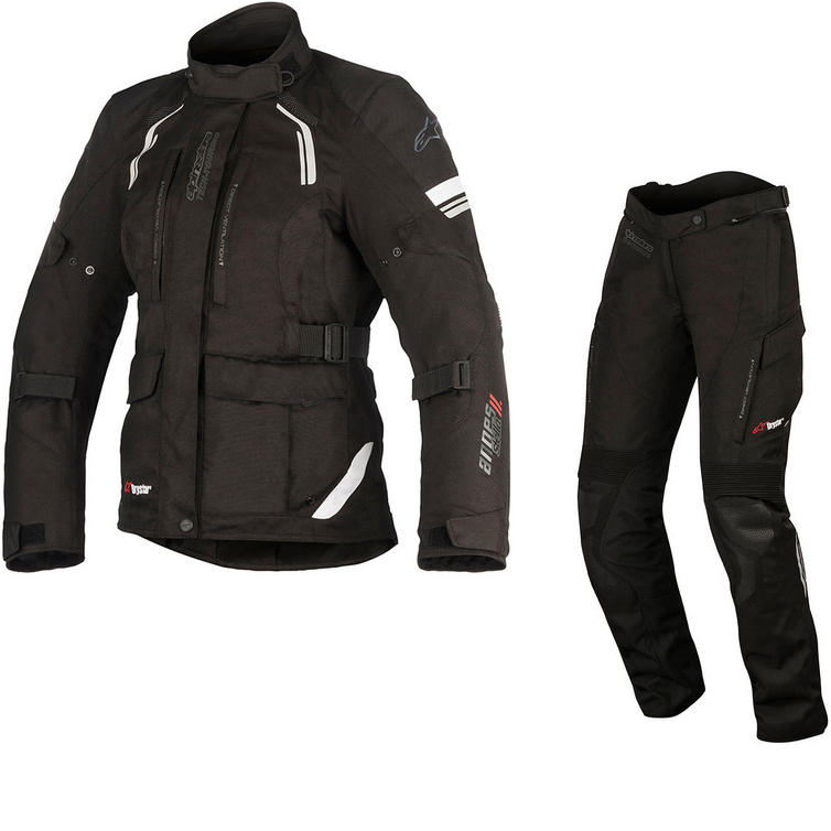 Alpinestars Stella Andes DryStar v2 Ladies Motorcycle Jacket & Trousers Black Kit