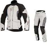 Alpinestars Stella Andes DryStar v2 Ladies Motorcycle Jacket & Trousers Grey Kit