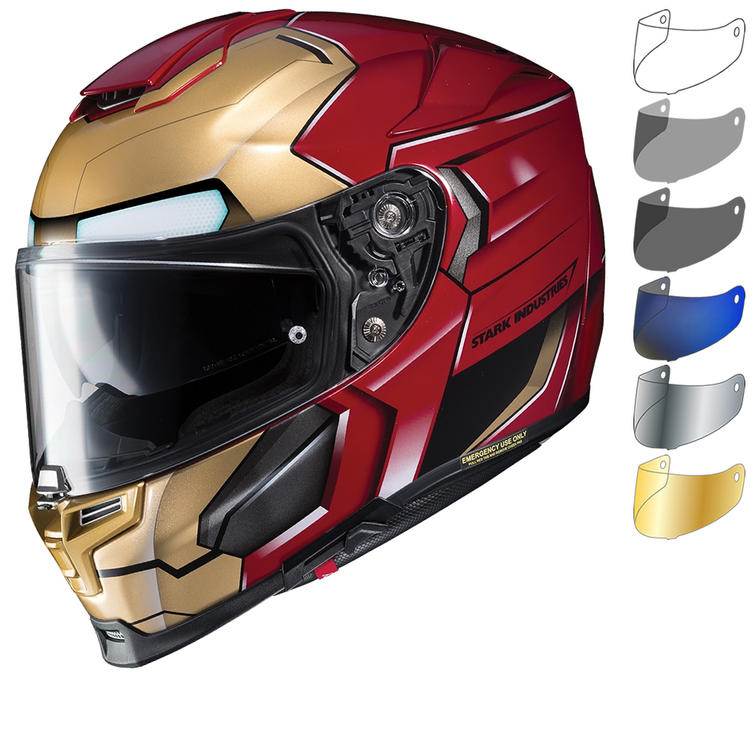 HJC RPHA 70 Iron Man Homecoming Motorcycle Helmet & Visor