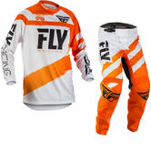 Fly Racing 2018 F-16 Motocross Jersey & Pants Orange White Kit