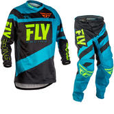 Fly Racing 2018 F-16 Youth Motocross Jersey & Pants Blue Black Kit