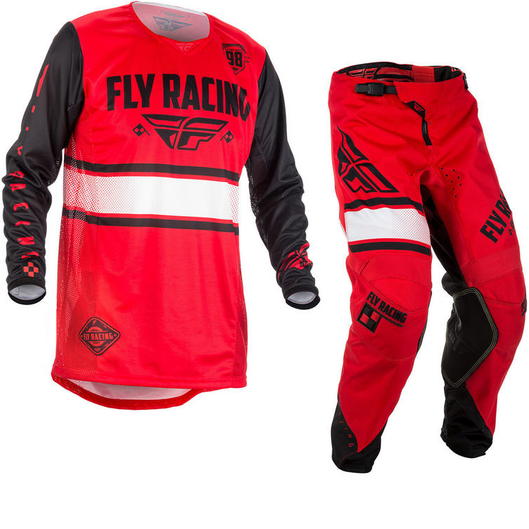 Fly Racing 2018 Kinetic Era Motocross Jersey & Pants Red Black Kit