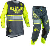 Fly Racing 2018 Kinetic Era Motocross Jersey & Pants Grey Hi-Vis Kit