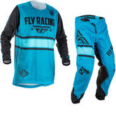 Fly Racing 2018 Kinetic Era Motocross Jersey & Pants Blue Black Kit