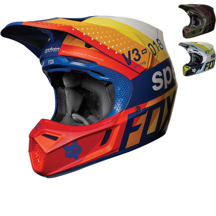 Fox Racing V3 Draftr Motocross Helmet