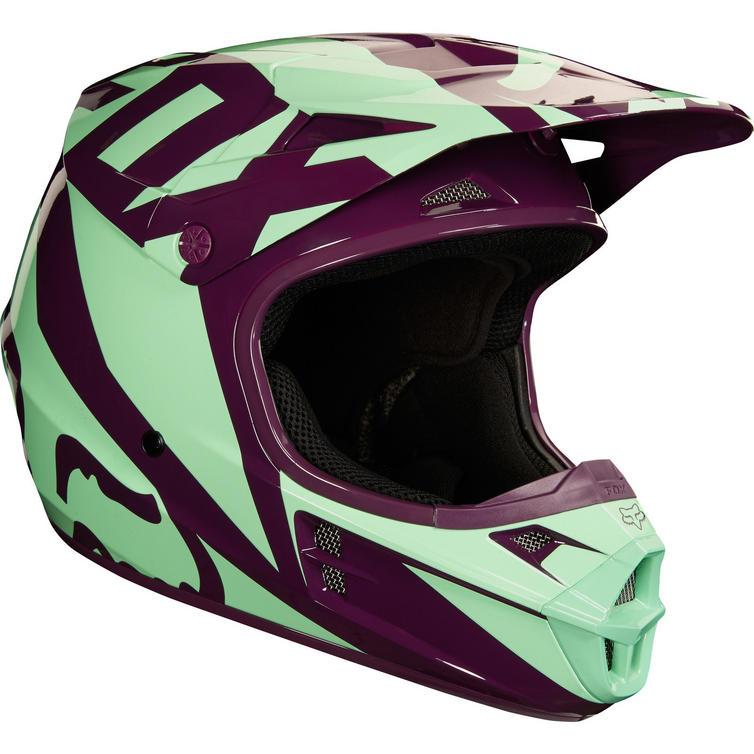 fox racing v1 race motocross helmet ladies helmets. Black Bedroom Furniture Sets. Home Design Ideas