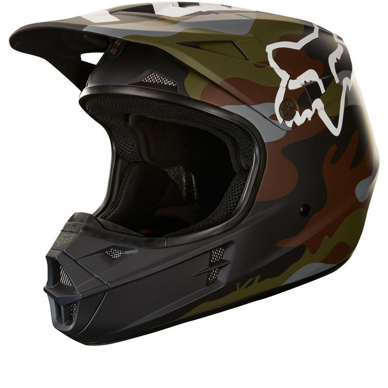 Fox Racing V1 Camo Motocross Helmet