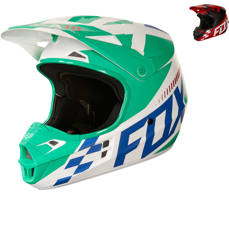 Fox Racing Youth V1 Sayak Motocross Helmet