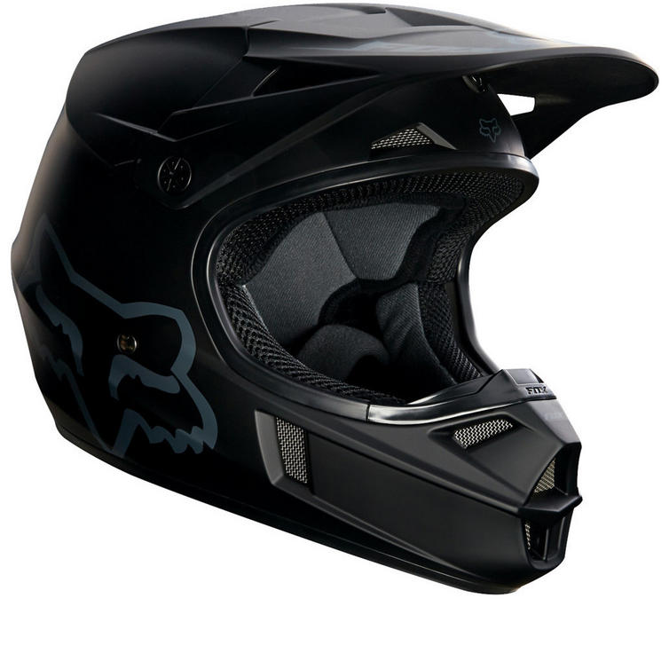 Fox Racing Youth V1 Matte Black Motocross Helmet