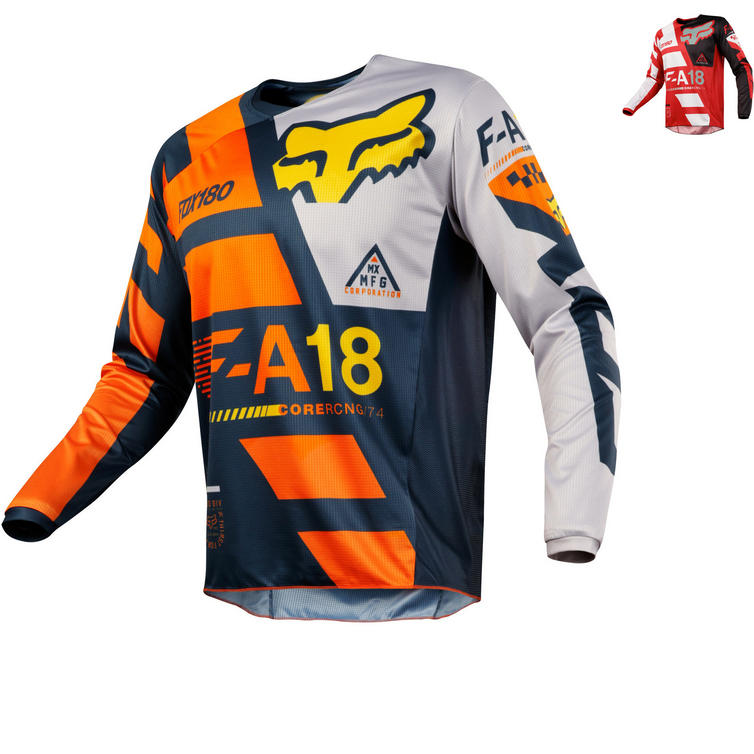 Fox Racing Peewee 180 Sayak Kids Motocross Jersey