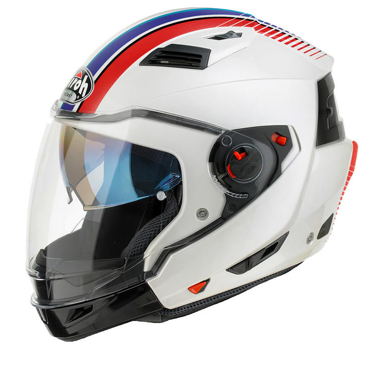 Airoh Executive Stripes Convertible Motorcycle Helmet