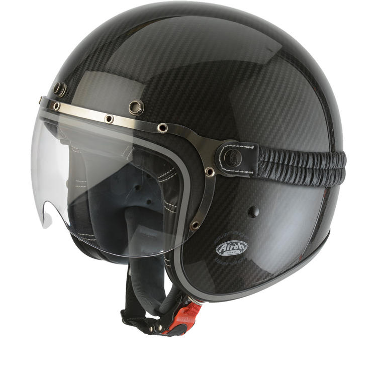 Airoh Garage Carbon Open Face Motorcycle Helmet