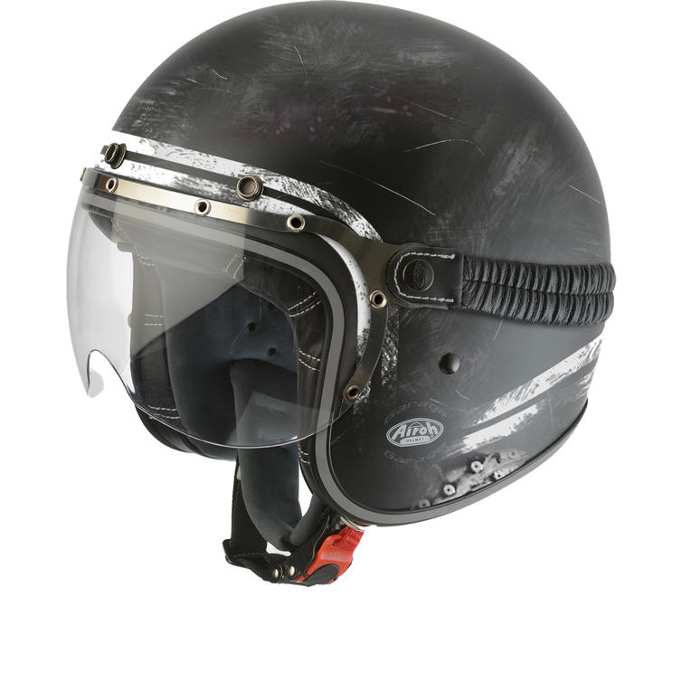 Airoh Garage Raw Open Face Motorcycle Helmet