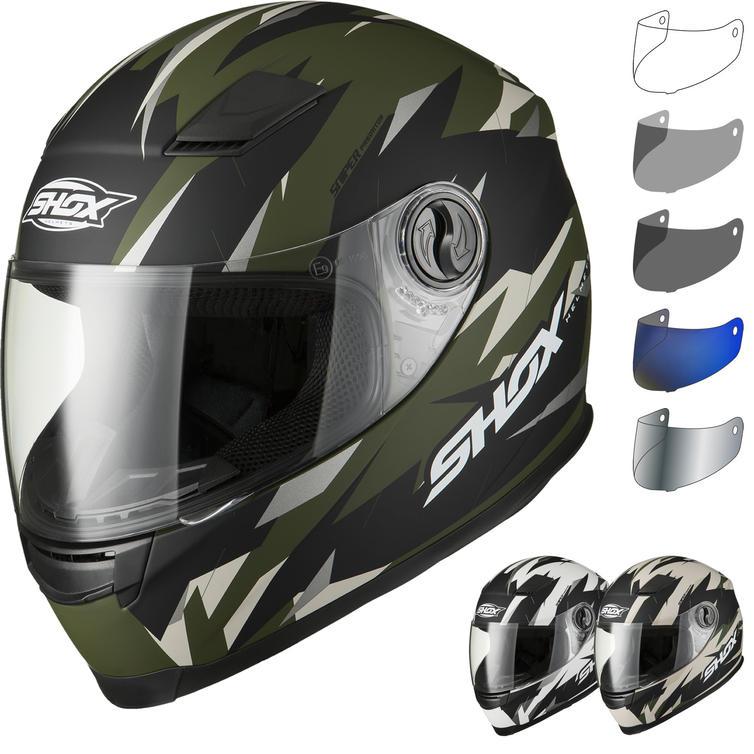 Shox Sniper Predator Motorcycle Helmet Full Face Helmets