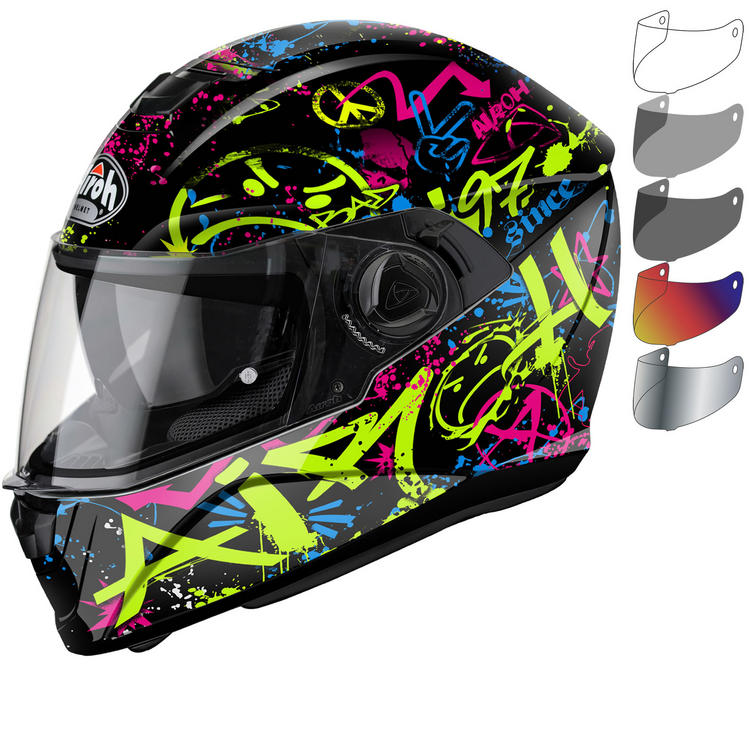 9bf5c029 Airoh Storm Cool Bicolour Motorcycle Helmet & Visor - New Arrivals -  Ghostbikes.com