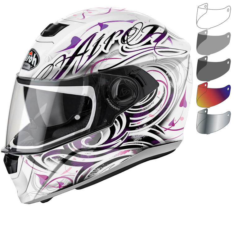 Airoh Storm Poison Ladies Motorcycle Helmet & Visor