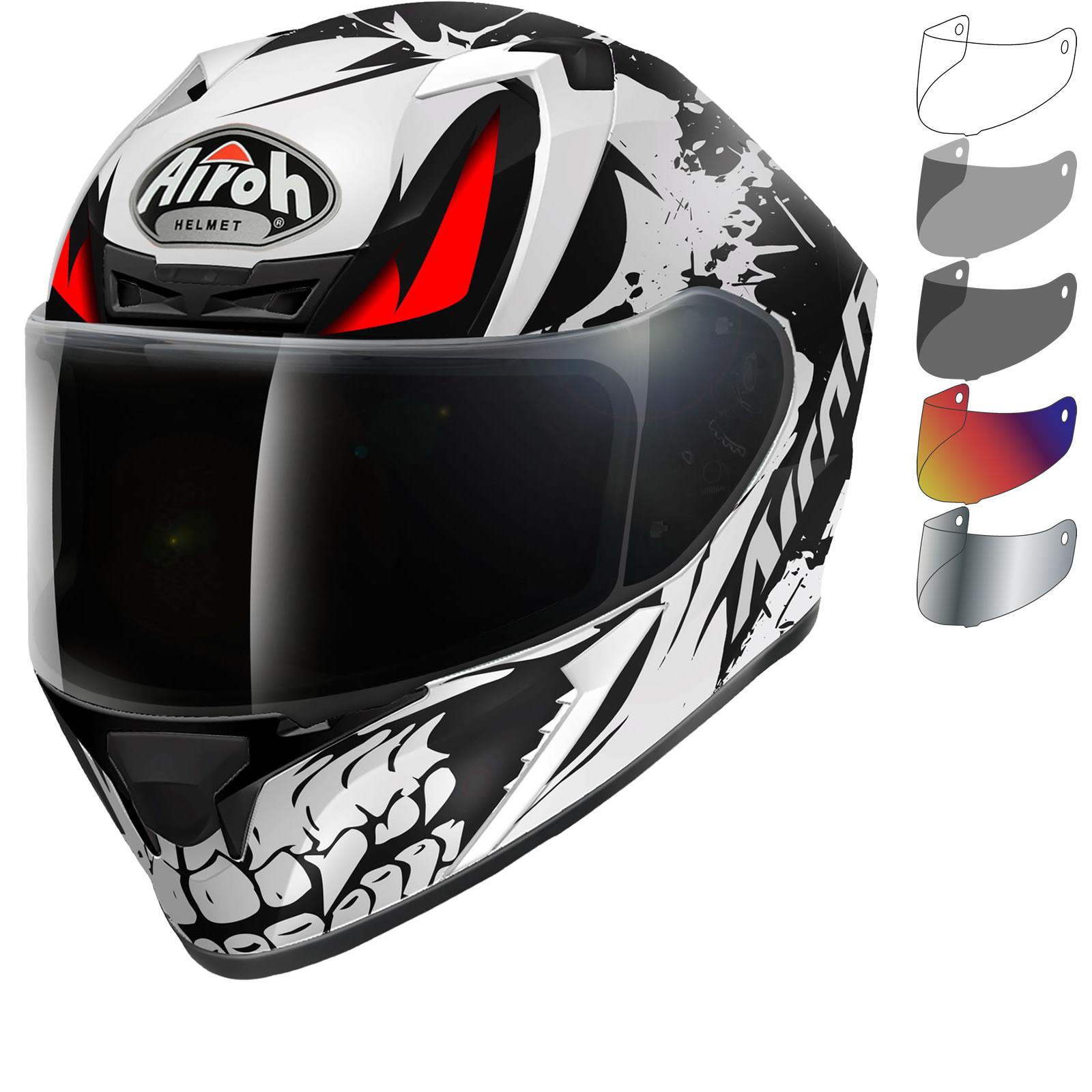 c944dd5073158 Airoh Valor Bone Motorcycle Helmet   Visor Full Face Pinlock Ready ...