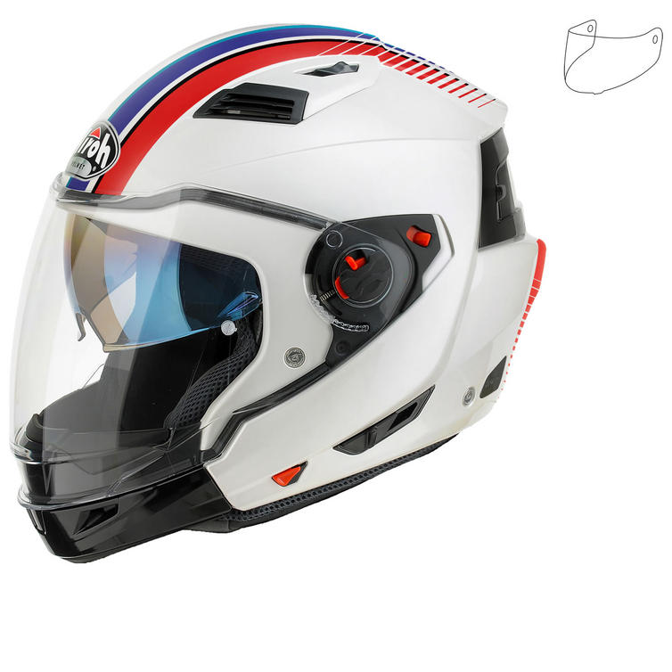 Airoh Executive Stripes Convertible Motorcycle Helmet & Visor