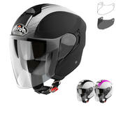 Airoh Hunter Simple Open Face Motorcycle Helmet & Visor