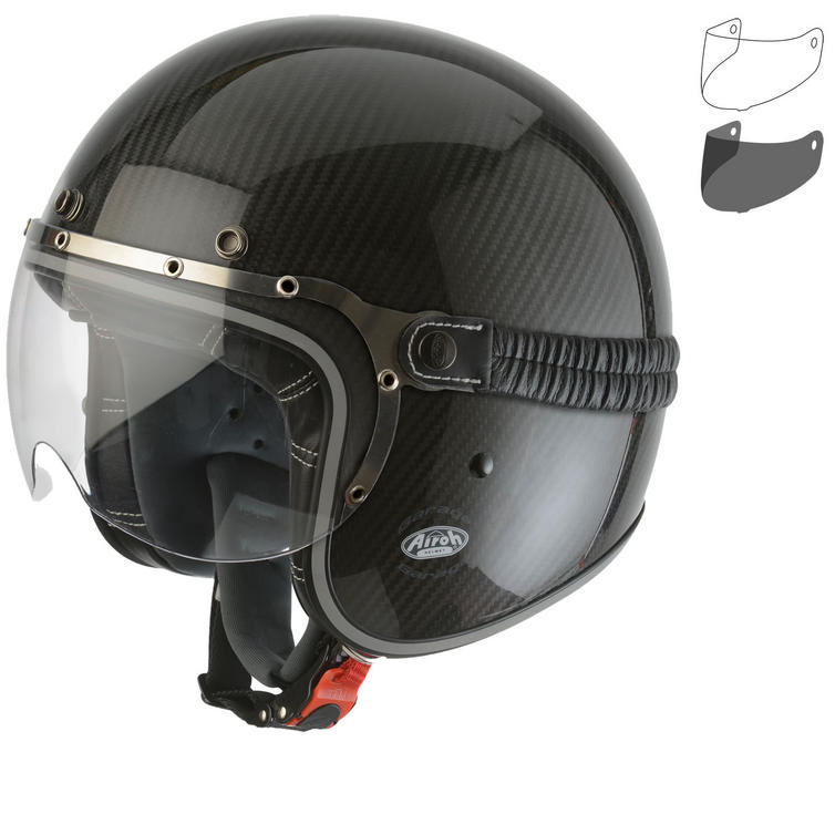 Airoh Garage Carbon Open Face Motorcycle Helmet & Visor