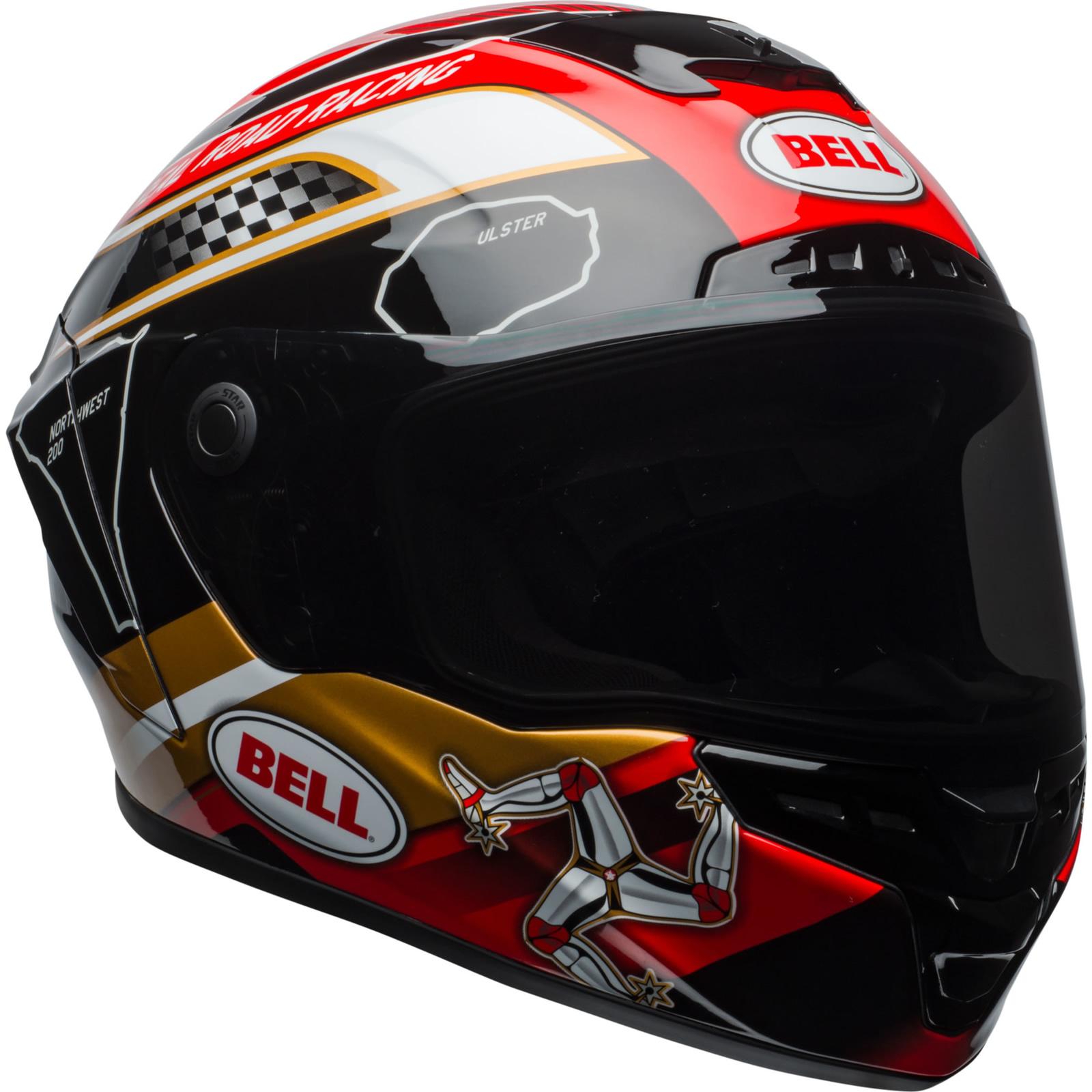 Bell Full Face Helmet >> Details About Bell Star Mips Isle Of Man Motorcycle Helmet Visor Full Face Racing Motorbike