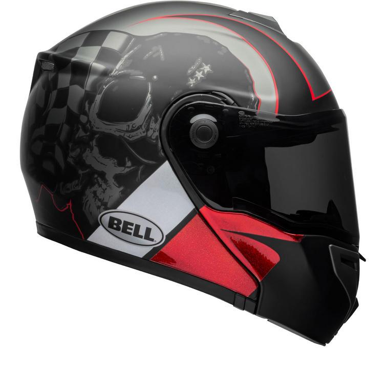 Bell SRT Flip Front Hart Luck Skull Motorcycle Helmet