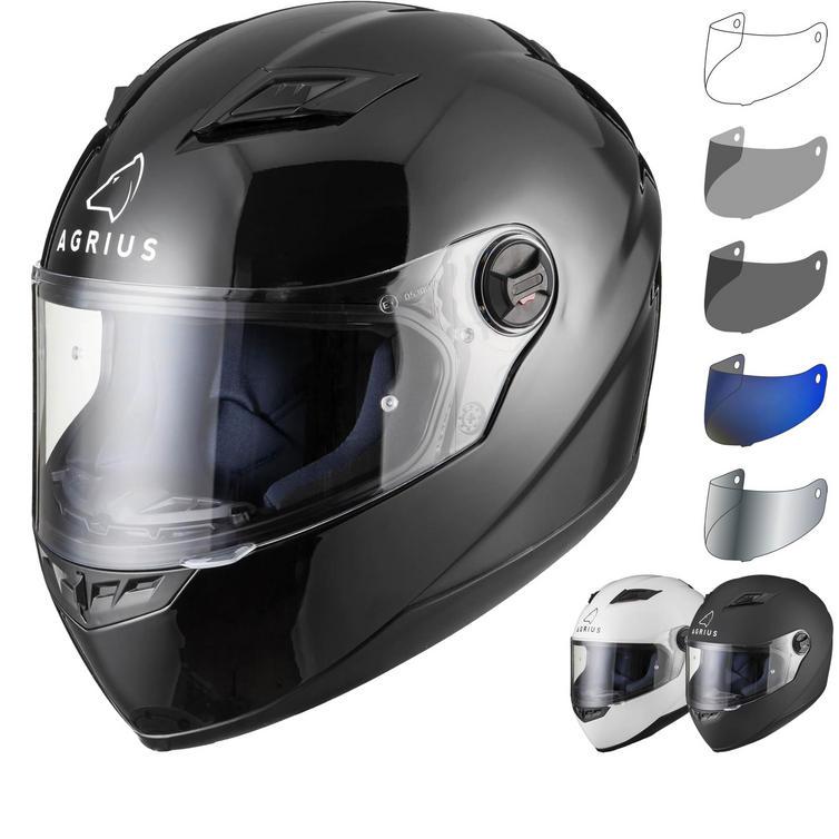 Agrius Rage Solid Motorcycle Helmet & Visor