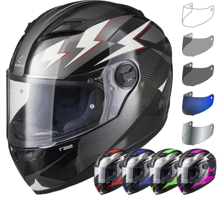 Agrius Rage Voltage Motorcycle Helmet & Visor
