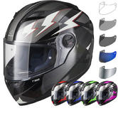 Agrius Rage Voltage Motorcycle Helmet & Visor