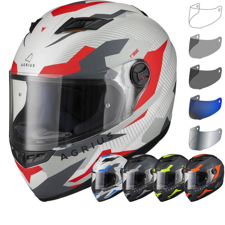 Agrius Rage Tracker Motorcycle Helmet & Visor