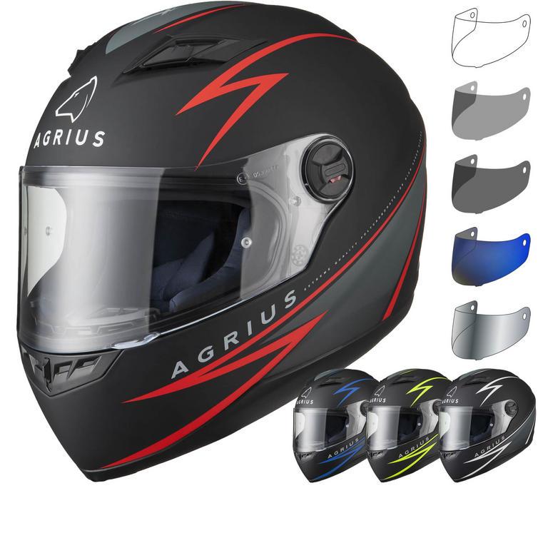 Agrius Rage Fuse Motorcycle Helmet & Visor
