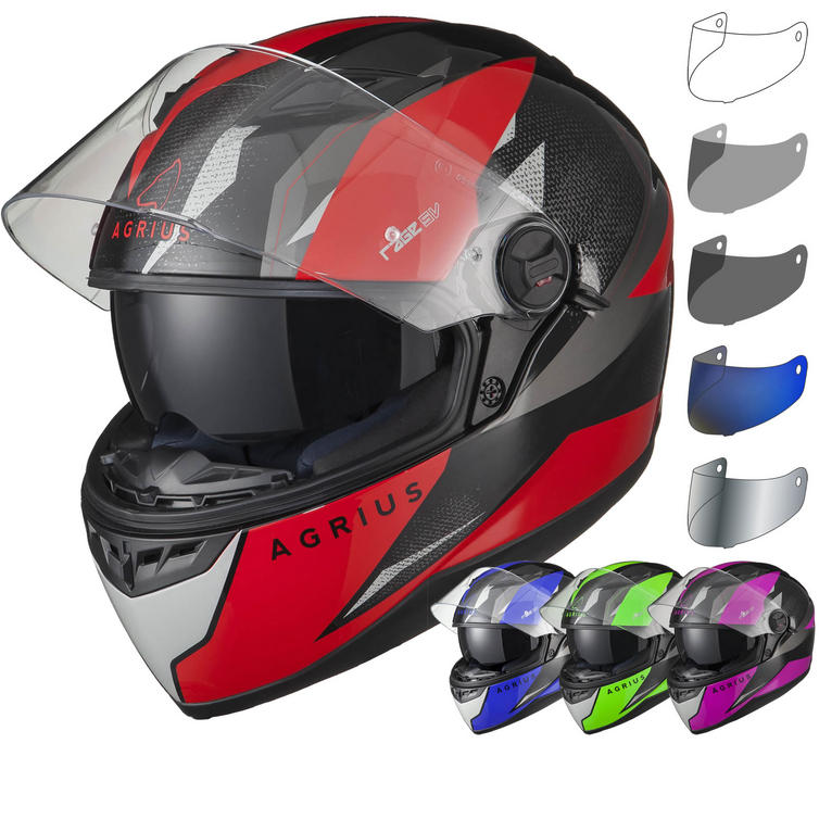 Agrius Rage SV Fusion Motorcycle Helmet & Visor