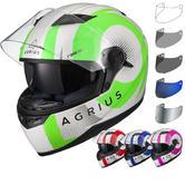 Agrius Rage SV Warp Motorcycle Helmet & Visor