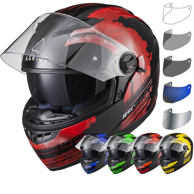 Agrius Rage SV Claw Motorcycle Helmet & Visor