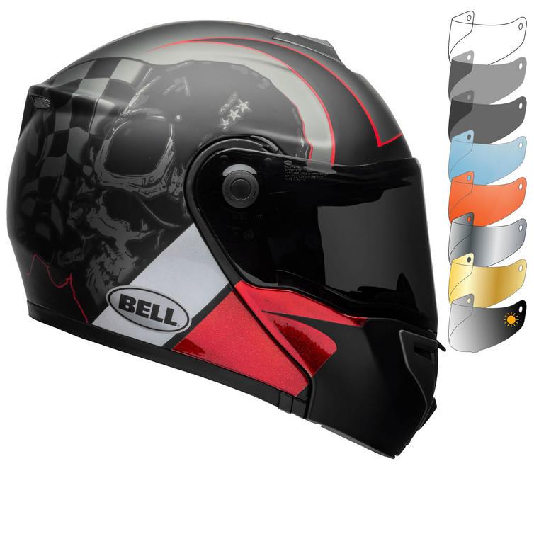 Bell SRT Flip Front Hart Luck Skull Motorcycle Helmet & Visor