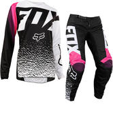Fox Racing Youth Girls 180 Motocross Jersey & Pants Black Pink Kit