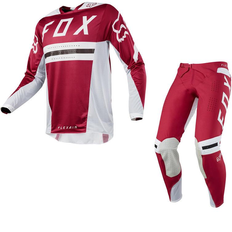 Fox Racing Flexair Preest Motocross Jersey & Pants Dark Red Kit