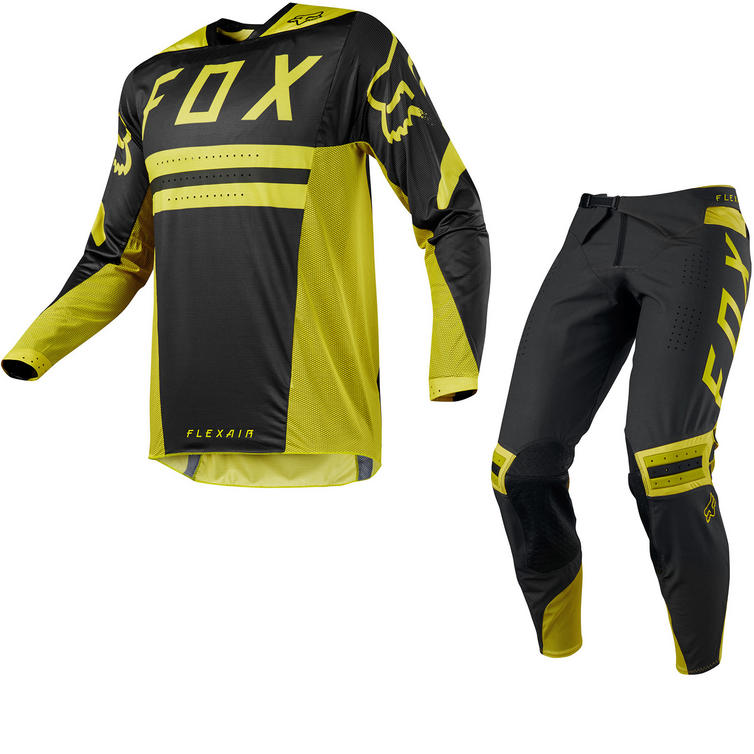 Fox Racing Flexair Preest Motocross Jersey & Pants Dark Yellow Kit