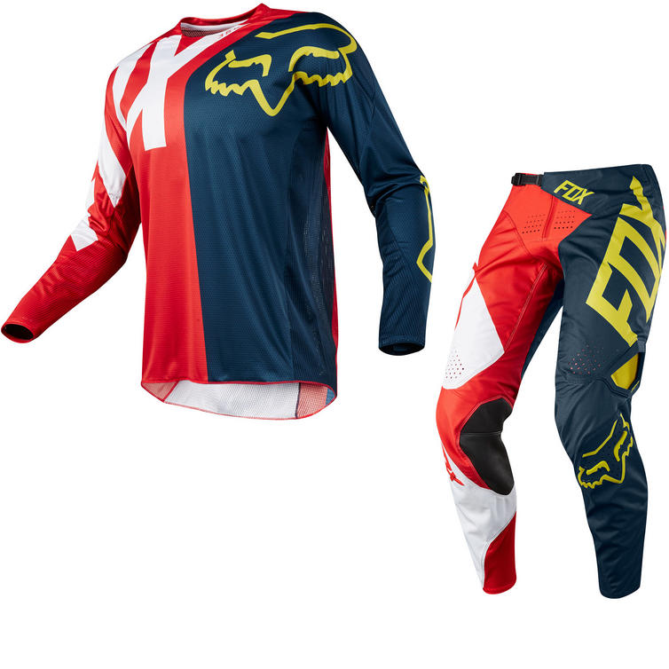 Fox Racing 360 Preme Motocross Jersey & Pants Navy Red Kit