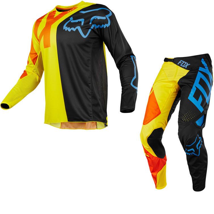 Fox Racing 360 Preme Motocross Jersey & Pants Black Yellow Kit