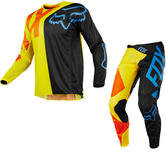 Fox Racing 360 Preme Motocross Jersey & Pants Black Yellow Kit