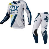 Fox Racing 360 Draftr Motocross Jersey & Pants Light Grey Kit