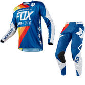 Fox Racing 360 Draftr Motocross Jersey & Pants Blue Kit