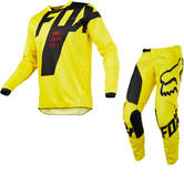 Fox Racing 180 Mastar Motocross Jersey & Pants Yellow Kit