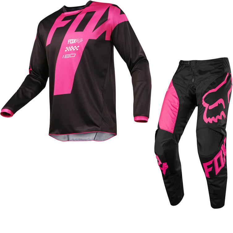 Fox Racing 180 Mastar Motocross Jersey & Pants Black Kit