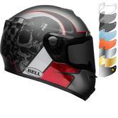Bell SRT Hart Luck Skull Motorcycle Helmet & Visor