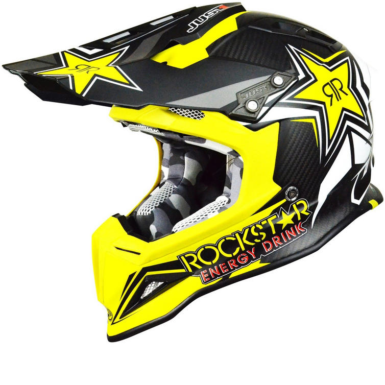 Just1 J12 Rockstar 2.0 Carbon Motocross Helmet